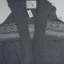 Womens Aeropostale Cable Knit Sweater Vest Gray Size Xl Nwt 9104 Photo