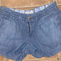Womens Aeropostale Chambray Blue Summer Shorts Size 9/10 Photo
