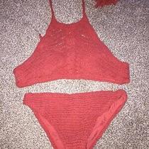 Womens Aeropostale Crochet Bikini Bathing Suit Size S Photo