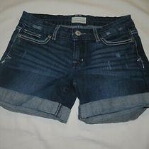 Womens Aeropostale Cuffed Denim Shorts Size 0 Photo
