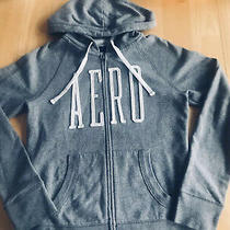 Womens Aeropostale Gray Hooded Zip Up Sweatshirt Size Medium Photo