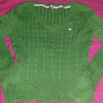 Womens Aeropostale Green Cable Knit Sweater Xl Photo