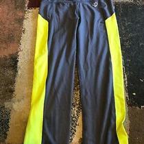 Womens Aeropostale Live Love Dream Gray & Yellow Workout Pants Size S Photo
