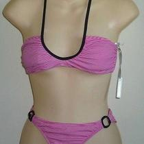 Womens Aeropostale Mini Stripe Cutout Bikini Swimsuit Size S Nwt 9302 Photo