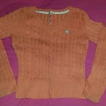Womens Aeropostale Orange Cable Knit Sweater Xl Photo