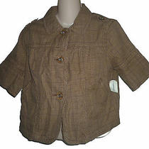 Womens Aeropostale Plaid Cropped Jacket Blazer Size M Nwt 3609-1 Photo