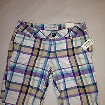 Womens Aeropostale Plaid Shorts Size 1/2 Photo