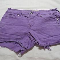 Womens Aeropostale Purple Denim Stretch Shorts  Size 1/2 Photo