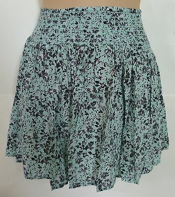 Womens AEROPOSTALE Rayon Smocked Floral Flippy Skirt size XS NWT #4434 Photo