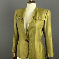 Womens Akris Wool Silk One Button Blazer Jacket Size Ch 38 Us 8 Photo