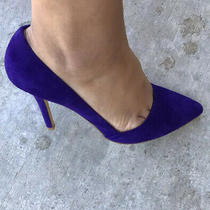 Womens Aldo Heels Purple Shoes Size 38.5 Photo