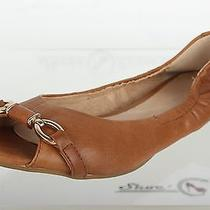 Womens Aldo Stylish Brown Leather Open Toe Flats Shoes Sz. 38 Photo