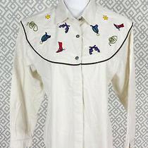 Womens Alexander Campbell Long Sleeve Button Down Shirt Western Rodeo Top Sz 14 Photo