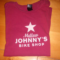 Womens Alternative Vintage Soft Tee Shirt Johnny's Bike Shop Size M Photo