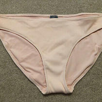 Womens American Eagle Blush Pink Ribbed Bikini Bathing Suit Swim Bottoms New Xl Photo