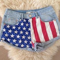 Womens American Flag Topshop Denim Hotpants W30 Photo