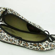 Womens American Rag Lolly Leopard Print Sequin Ballet Flat Size 8m Nwb Photo