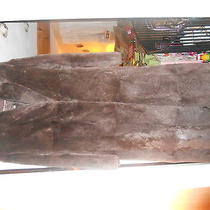 Womens Andrew Marc Brown Rabbit Fur Coat-100% Rabbit-Sz Small-Euc Photo