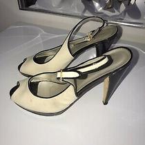 Womens Anne Klein New York Tan and Black High Heels Shoes Pumps Sz 9 Photo