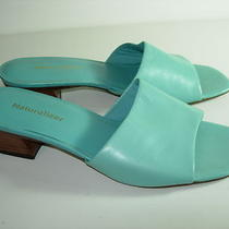 Womens Aqua Blue Leather Naturalizer Slides Sandals Career Heels Shoes Size 10 M Photo