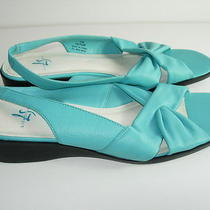 Womens Aqua Blue Lifestride Sandals Heels Slingbacks Comfort Shoes Size 9 M Photo