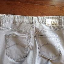 Womens Armani Exchange Pants Jeans Silver  Metallic Snake Size 2 Photo