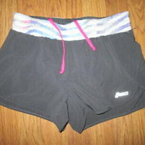Womens Asics Athletic Shorts W/ Built in Liner Sz S Sm Running Photo