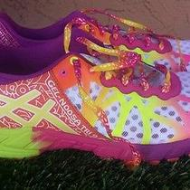 Womens Asics Gel Noosa Tri 9 White/volt/orange/purple Running Shoes Size 9.5 Photo