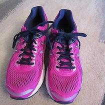 Womens Asics Running Shoes Gt-1000 4 in Size 8.5b Pink Glow/silver/indigo Blue Photo
