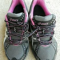 Womens Asics Sneakers Size 8 Balck/gray/white/pink Gently Worn Photo