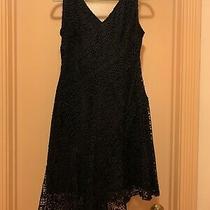 Womens Asymmetric Seam v-Neck Dress Donna Karan Size 6 Black New No Tags Photo