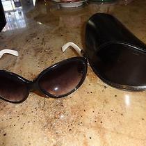 Womens Authentic White Fendi Sunglasses With Case Euc Photo