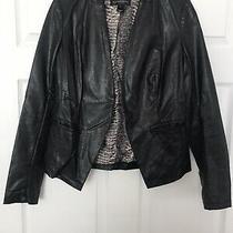 Womens Bagatelle Black Faux Leather Jacket/blazer Size M Photo