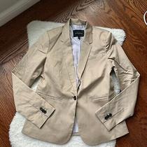 Womens Banana Republic Tan Classic Single Button Blazer Size 4 Euc Photo