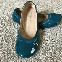Womens Bandolino Faux Patent Leather Flats Teal Size 9 Photo