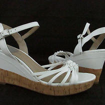 Womens Bandolino Modavi White Wedge Sandal Size 9.5m Nwb Photo