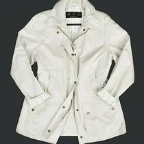 Womens Barbour Cotton Summer Touch Beadnell Jacket Beige Size 14/16 Uk Photo
