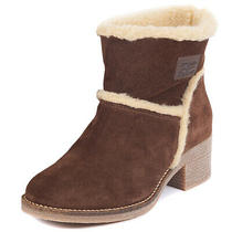Womens Barbour Frankie Fashion Faux Fur Trim Heeled Warm Winter Boots Us 4.5-9.5 Photo