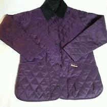 Womens Barbour Quilted Shaped Liddesdale Quilted Jacket Uk 8 Plum Purple Y394 Photo