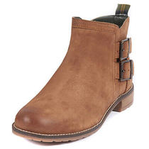 Womens Barbour Sarah Low Buckle Leather Chelsea Flat Closed Toe Boots Us 4.5-9.5 Photo