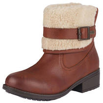Womens Barbour Verona Winter Fold Cuff Fashion Outdoor Faux Fur Boots Us 4.5-9.5 Photo