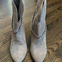 Womens Bcbg Gray Booties With Heel Size 8.5 B Photo