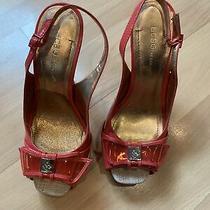 Womens Bcbg Hot Pink Slingback Peep Toe Pumps Size 7 Photo