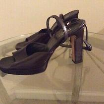 Womens Bcbg Strappy Brown Leather Heel Size 38/8b Photo