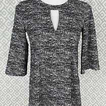Womens Bcbgeneration Bcbg Black White Tunic Keyhole Dress Top Blouse Size Xs Photo