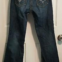Womens Be Rock for Express Dark Wash Barely Boot Jeans Size 6 Short Photo
