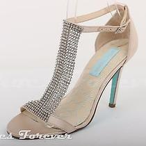 Womens Betsey Johnson Blush Pink Jeweled Ankle Strap Sandals Sz. 7 M New Photo