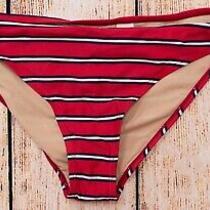 Womens Bikini Bottom Thin Side Tie Sz L Gap Body Red/white/blue Str Nwt - 975900 Photo