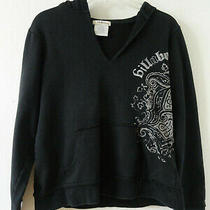 Womens Billabong Black Pullover Hooded Sweatshirt Jacket Size L Photo