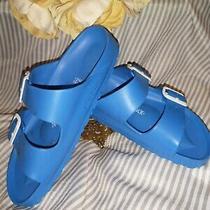 Womens Birkenstock Arizona Essentials Eva Blue Sandals L6 M4 Photo
